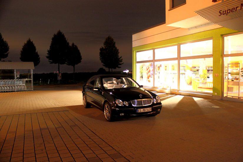 W203 – 2013-09 – Nachtfotosession in Filderstadt-Plattenhardt