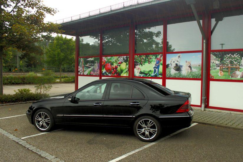 W203 – 2013-09 – Ausgiebiges Shooten auf dem Dehner Parkplatz, Plochingen mit späterem Regenschauer