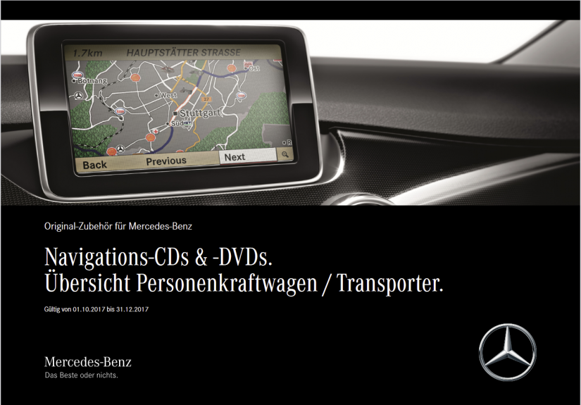 Infos Mercedes Multimedia – aktuelle Navigations Software finden