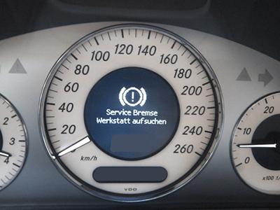 SBC (Sensotronic Brake Control) – Service Bremse – Werkstatt aufsuchen