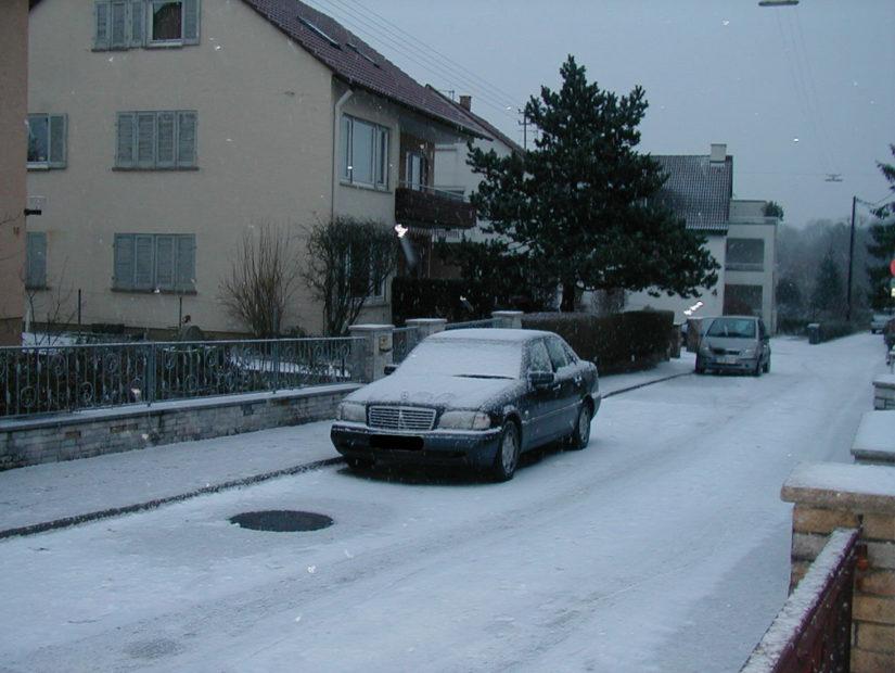 W202 – 2001-12 – Der erste Winter mit einem Hecktriebler