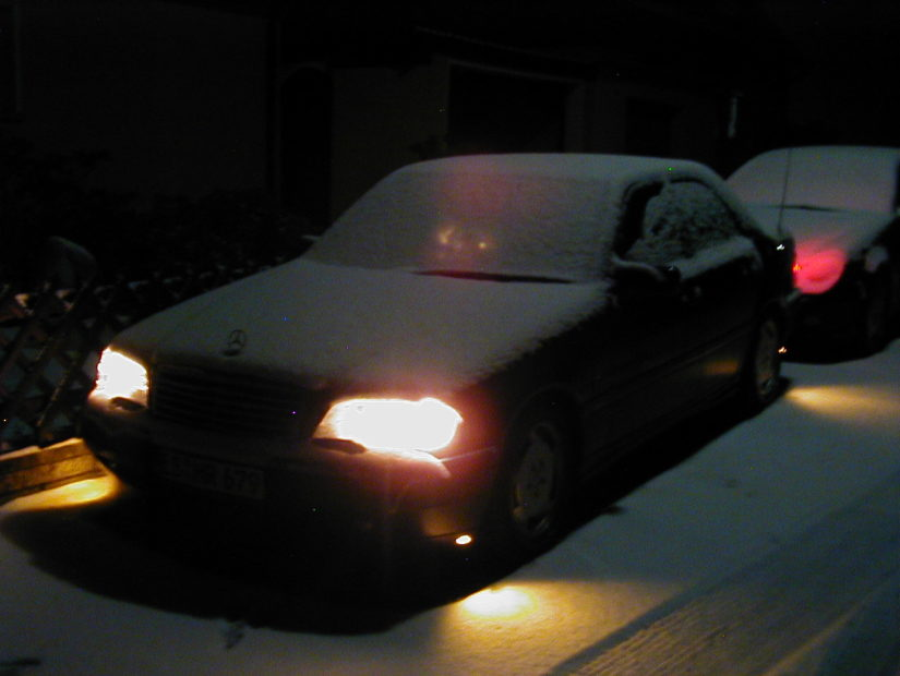 W202 – 2004-01 – Es ist mal wieder Winter und die Schneeschicht war zu verlockend