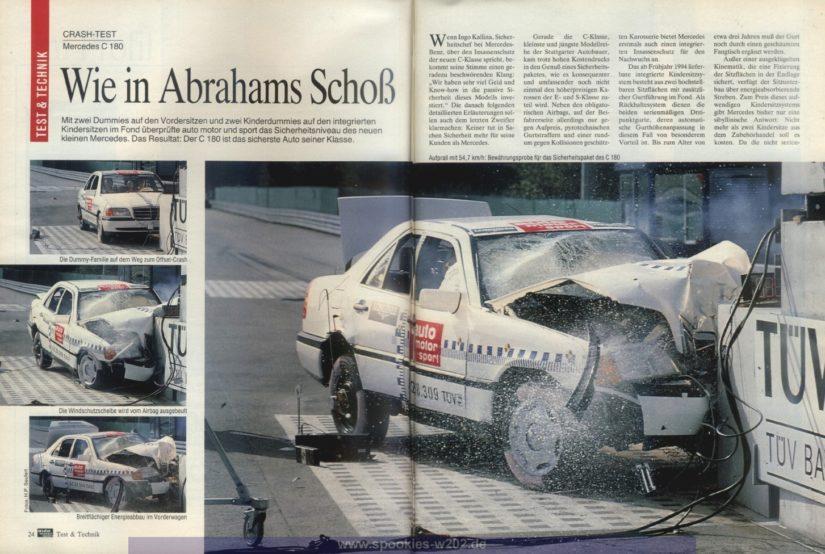 Infos S202 W202 – Crashtest in der auto, motor, sport von damals