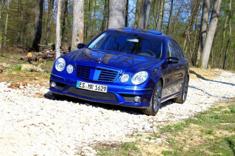 Mercedes-Benz E320 (W211) – Modifikationen – Umbau auf originale AMG E63 Front vom W211 Mopf