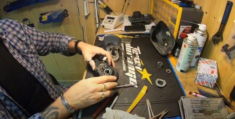 Reparatur S211 W211 – Mopf Aussenspiegel klappen zu weit aus, Reparaturanleitung